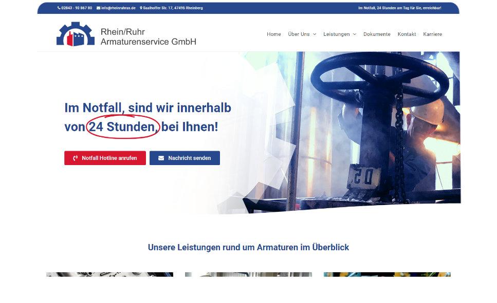 Referenz Webseite: Rhein-Ruhr Armaturenservice