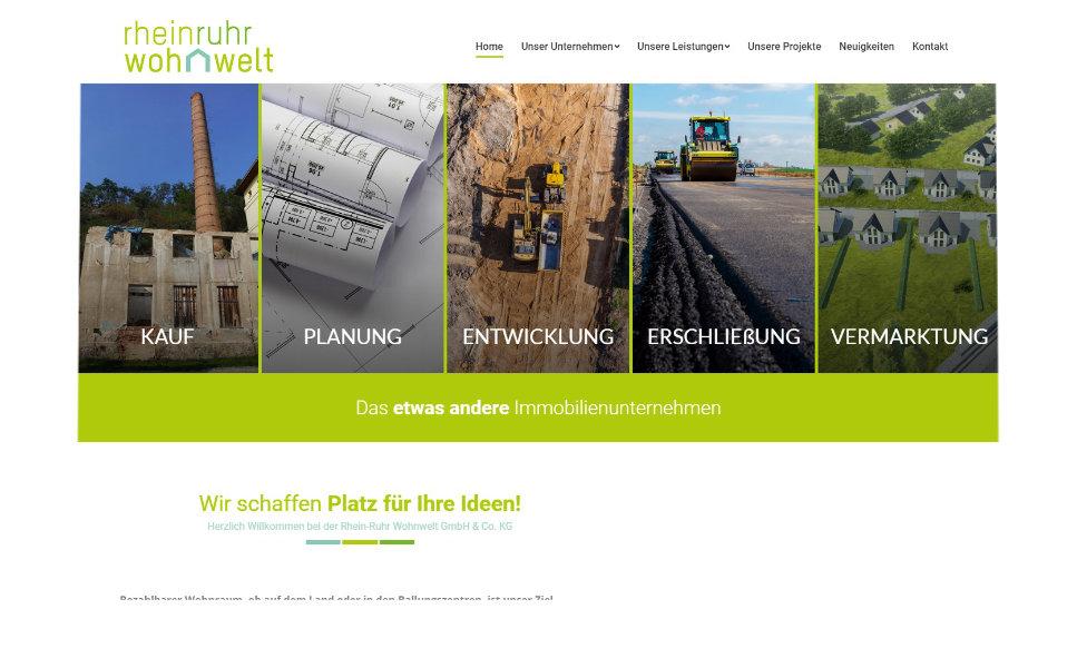 Referenz Webseite: Rhein-Ruhr Wohnwelt