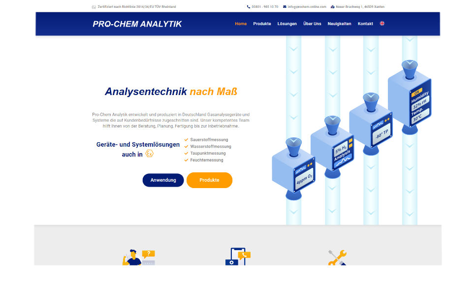 Referenz Webseite: Prochem-Analytik