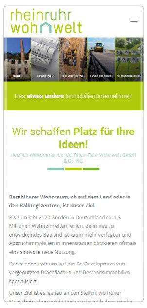 Responsive Webseiten Referenz: Rhein-Ruhr Wohnwelt